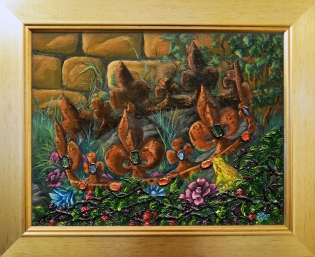 The Frog King in gold frame copy